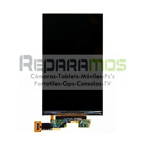 Pantalla digitalizadora, ventana táctil negra y display de LG E700 Optimus