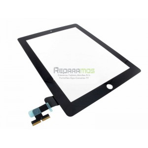 Apple iPad 2 Wifi, Wifi + 3G pantalla digitalizadora negra, ventana tactil cubre display