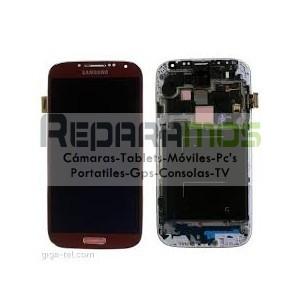 Pantalla completa (Digitalizador, pantalla tactil + display LCD) azul para Samsung Galaxy S4