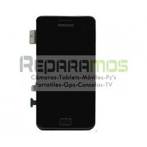 Pantalla completa (Digitalizador, pantalla tactil + display LCD) negro para Samsung Galaxy i9003