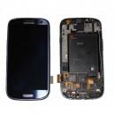 Pantalla digitalizadora, display, ventana táctil Pebble azul y carcasa frontal de Samsung Galaxy S3, SIII i9300