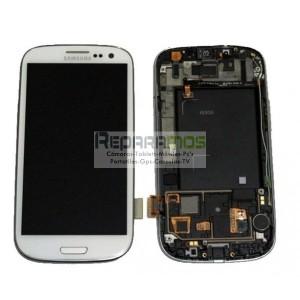Pantalla digitalizadora blanca con display de Samsung Galaxy S3, SIII i9300