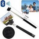 SELFIE brazo extensible para Auto-disparo de la cámara por control remoto Bluetooth, soporta IOS y Android.