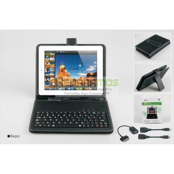 Funda con teclado bluetooth para tablet universal 9 - Funda teclado bluetooth ...