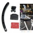 GoPro accesorios de aleación de aluminio de fondo plano adaptador de montaje para GoPro y cámaras deportivas