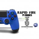 MANDO PS4 CON INSTALACIÓN DE RAPID FIRE,SCUF Y TOPES DE GATILLO COLOR STEEL BLACK