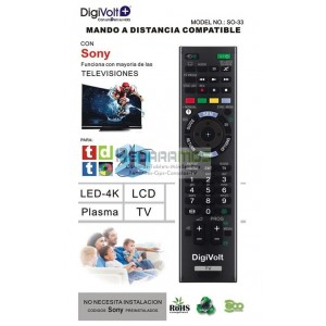 MANDO COMPATIBLE TV LG MARCA DIGIVOLT